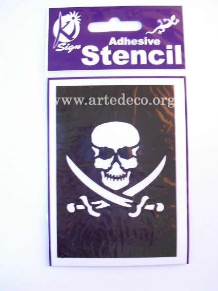 Stencil Body Painting : Stencil Teschio